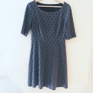 Connected Apparel Dress, Gray, Size 8